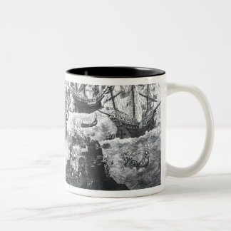 The Embarkation of Henry VIII  at Dover Two-Tone Coffee Mug