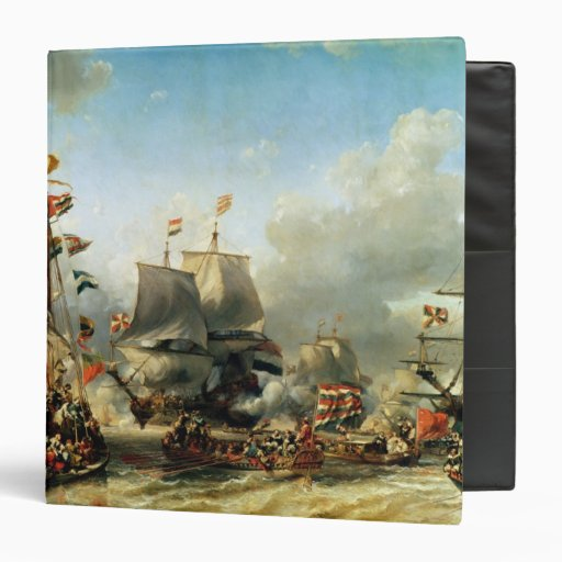The Embarkation of Ruyter and William de Witt 3 Ring Binder