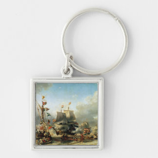 The Embarkation of Ruyter and William de Witt Keychain
