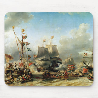 The Embarkation of Ruyter and William de Witt Mouse Pad