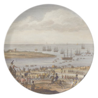 The Embarkation of the English in Holland, 30 Nove Melamine Plate
