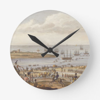 The Embarkation of the English in Holland, 30 Nove Round Clock