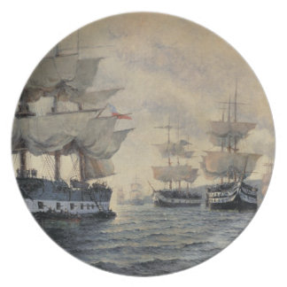 The Embarkation of the Liberating Expedition of Pe Dinner Plate