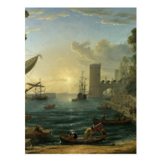 The Embarkation of the Queen of Sheba by Claude Postcard