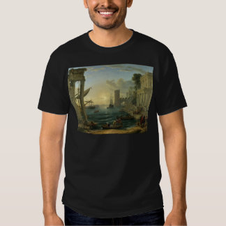 The Embarkation of the Queen of Sheba by Claude T Shirt