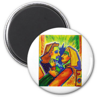 The Embrace by Piliero 2 Inch Round Magnet