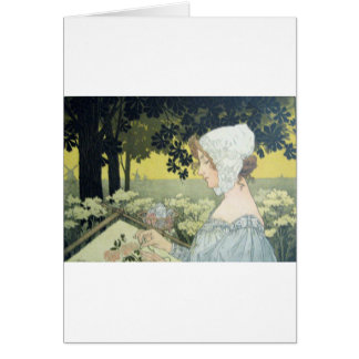 THE EMBROIDERER  LA BRODEUSE CARD