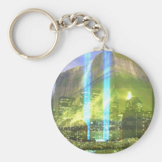 THE EMERALD CITY BASIC ROUND BUTTON KEYCHAIN