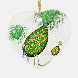 The Emerald Diamond Fab Egg, tony fernandes Ceramic Ornament