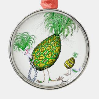 The Emerald Diamond Fab Egg, tony fernandes Metal Ornament