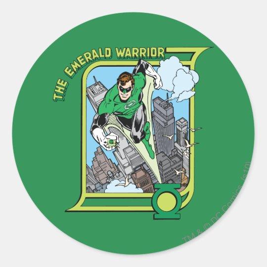 The Emerald Warrior Classic Round Sticker