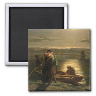 The Emigrant, 1858 2 Inch Square Magnet