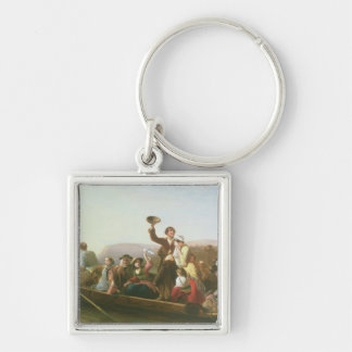 The Emigrants Silver-Colored Square Keychain