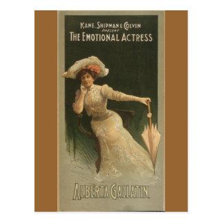 The Emotional Actress Postcard