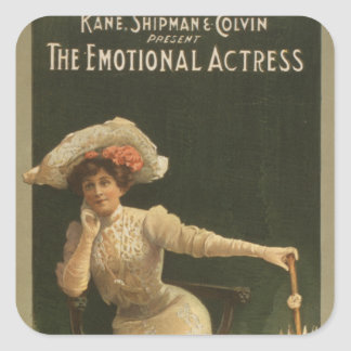 The Emotional Actress Square Sticker