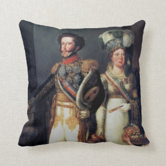 The emperor and the empress throw pillow
