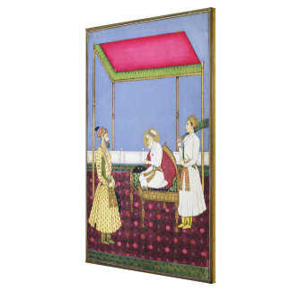 The Emperor Aurangzeb in old age Canvas Print