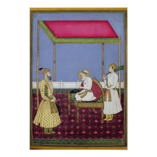 The Emperor Aurangzeb in old age Poster