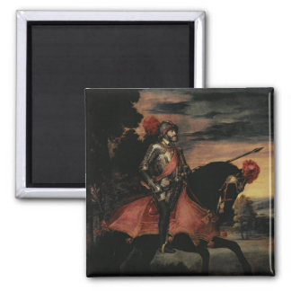 The Emperor Charles V  on Horseback Magnet
