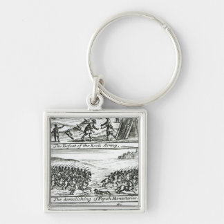 The Emperor complimenting King Henry Silver-Colored Square Keychain