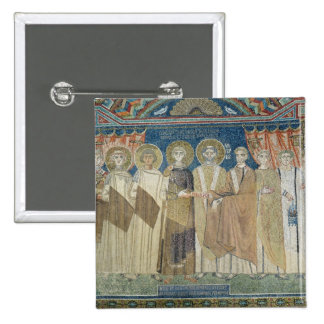 The Emperor Constantine IV grants tax immunity Button