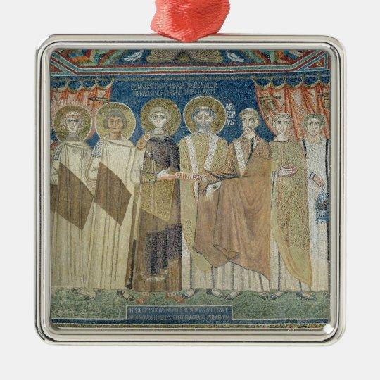 The Emperor Constantine IV grants tax immunity Metal Ornament