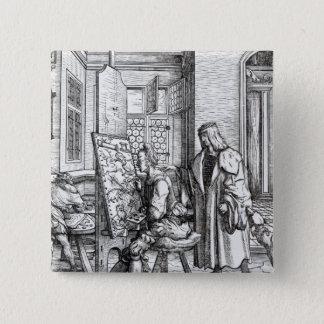 The Emperor in the Artist's Studio Pinback Button