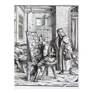 The Emperor in the Artist's Studio Postcard