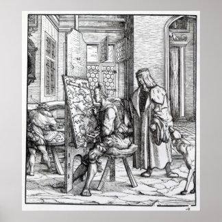 The Emperor in the Artist's Studio Poster