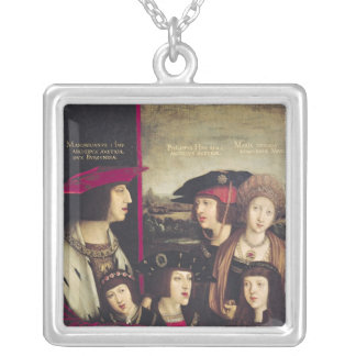 The Emperor Maximilian I Silver Plated Necklace