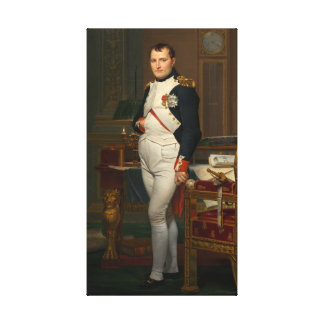 The Emperor Napoleon in His Study at the Tuileries Canvas Print