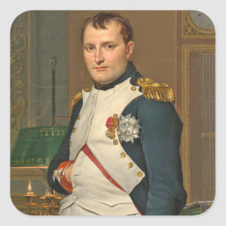The Emperor Napoleon in His Study at the Tuileries Square Sticker