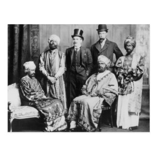 The Emperor of Abyssinia and his Court' Postcard