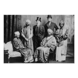 The Emperor of Abyssinia and his Court' Poster