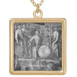 The Emperor of China, frontispiece to an account o Gold Plated Necklace