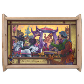The Emperor's New Clothes Art Serving Tray