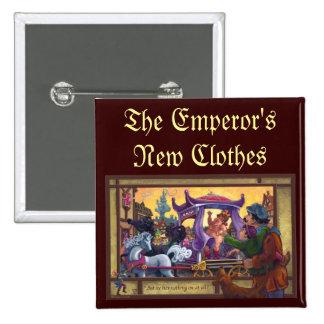 The Emperor's New Clothes 2 Inch Square Button
