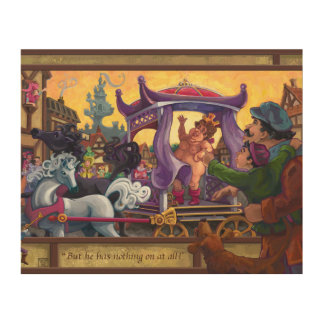 The Emperor's New Clothes Wood Wall Decor