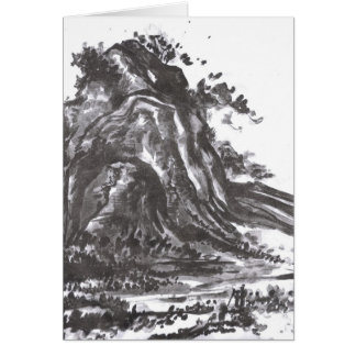 The Emperor Sees Enlightenment Mountain Landscape Card