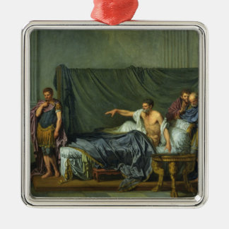 The Emperor Severus Rebuking his Son Metal Ornament