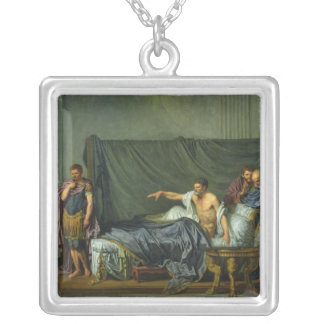 The Emperor Severus Rebuking his Son Silver Plated Necklace