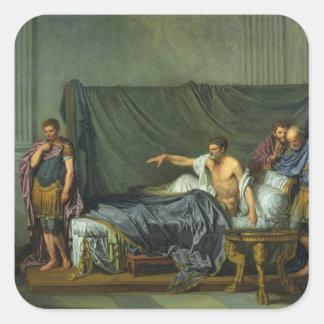 The Emperor Severus Rebuking his Son Square Sticker
