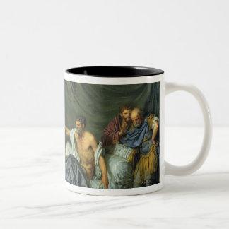 The Emperor Severus Rebuking his Son Two-Tone Coffee Mug