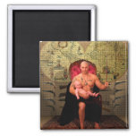 The Emperor Tarot Card Art Magnets
