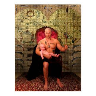 The Emperor Tarot Card Art Postcard