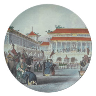 The Emperor Teaon-Kwang Reviewing his Guards, Pala Dinner Plate