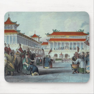 The Emperor Teaon-Kwang Reviewing his Guards, Pala Mouse Pad