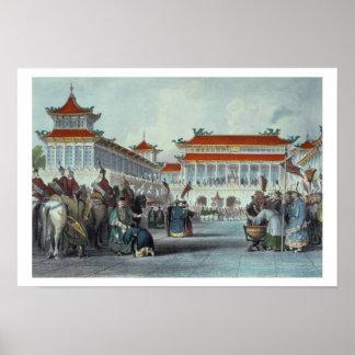 The Emperor Teaon-Kwang Reviewing his Guards, Pala Poster