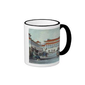 The Emperor Teaon-Kwang Reviewing his Guards, Pala Ringer Coffee Mug