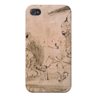 The Emperor Timur  on his Throne Covers For iPhone 4